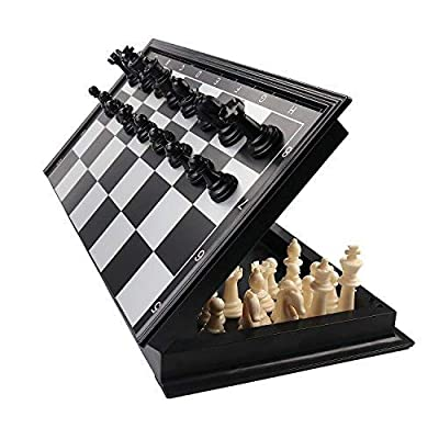 +Urbano 3 in 1 Chess Checkers Backgammon Set, Magnetic Chess for Kids Adults Travel Magnet Chess with Folding Case 13