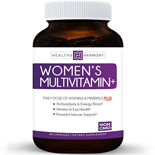 Womens Multivitamin   Non Gmo  Daily Vitamins   Minerals Plus Energy Boost  Hair  Eye Health   Antioxidants  With Biotin  Zinc  Selenium   Lutein   Multivitamin For Women   60 Capsules  Multi Tablet