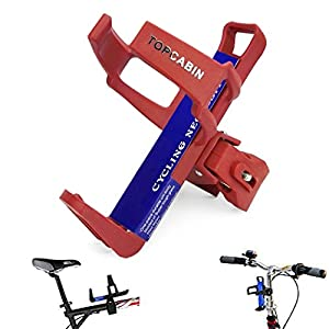 TOPCABIN Adjustable Bike Bicycle MTB Water Bottle Holder Water Bottle Rack Cage Red