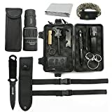 Deyace Emergency Survival Kits, [2018 UPGRADED] Ultimate Professional Tools Outdoor SOS Gear Kits for Traveling/Hiking/Biking/Climbing/Hunting - Include Monocular Telescope and more, 12 in 1