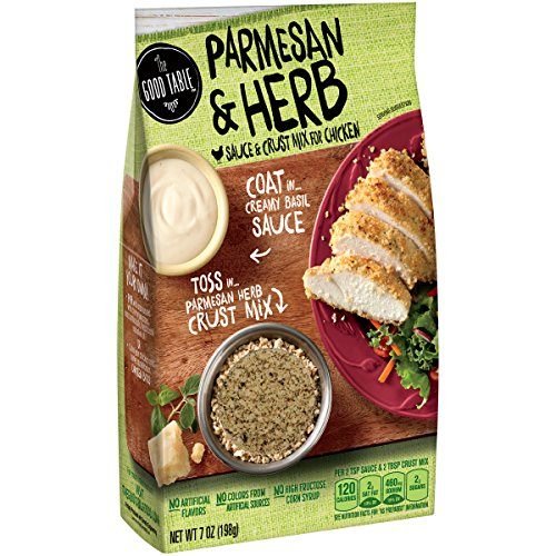 The Good Table Parmesan & Herb Sauce & Crust Mix for Chicken 7 oz. Box