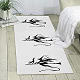 GDBADY The Black Cats Witch Domestic Sitting Room Bedroom Domestic Carpet