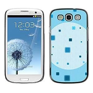 FECELL CITY // Duro Aluminio Pegatina PC Caso decorativo Funda Carcasa de Protección para Samsung Galaxy S3 I9300 // Square Pattern Wallpaper Minimalist