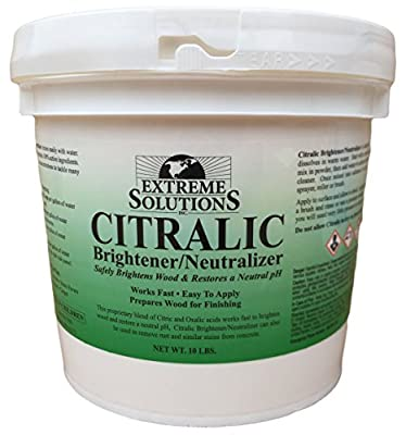 Wood Brightener & Wood Neutralizer for Wood Decks, Wood Fences, Wood Siding, and Log Cabins - Citralic - Woodrich Brand - Covers up to 3000 Square Feet - Safe to use on all types of wood - Easy to Use
