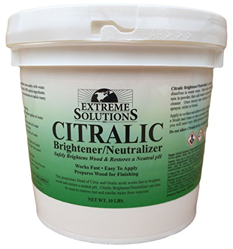 Wood Brightener & Wood Neutralizer for Wood Decks, Wood Fences, Wood Siding, and Log Cabins - Citralic - Woodrich Brand - Covers up to 3000 Square Feet - Safe to use on all types of wood - Easy to Use ()