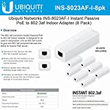Ubiquiti Networks INS-8023AF-I Instant Passive 802.3af Adapter POE Device Indoor (8 Pack)