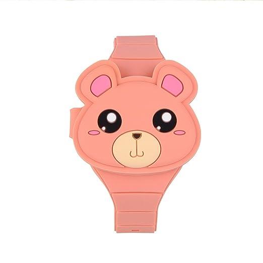 Reloj digital de cartón, reloj de pulsera para niños, resistente al agua, tiempo withe LED con tapa de juguete para niños y niñas: Amazon.es: Relojes