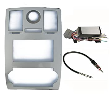 amazon com radio stereo car install double din navigation silver 2006 Chrysler 300 Wiring Harness radio stereo car install double din navigation silver bezel can bus factory amplified systems radio 2006 chrysler 300 headlight wiring harness