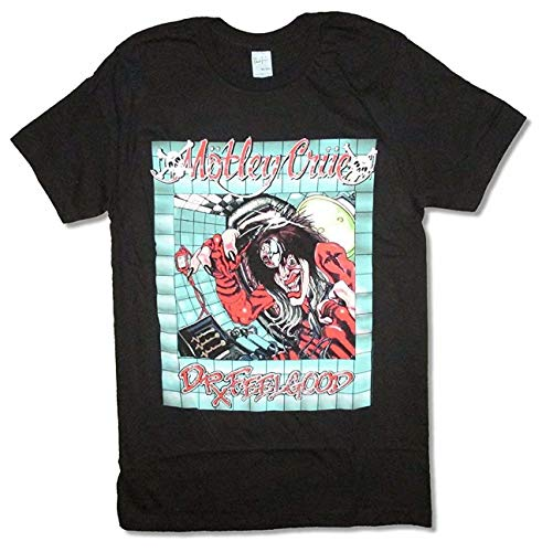 MiMooc Motley Crue Doctor Feelgood Office Rx Black T Shirt Tommy Lee