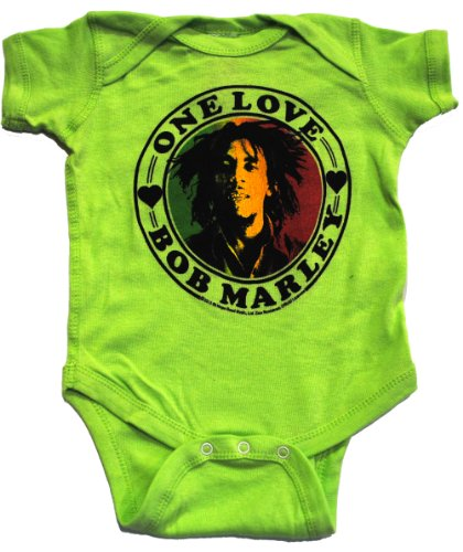 Bob Marley Infant Baby One Love Onesie Green 6M