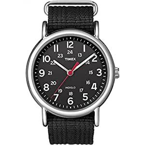 Timex Unisex Weekender, Black, 38 mm