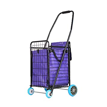 Carro de la compra plegable y duradero, cesta de la compra para casa, plegable, supermercado, compra, ...