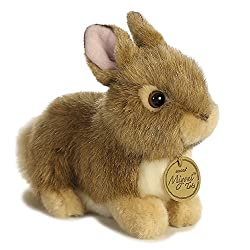 Aurora World Miyoni Baby Bunny Plush, Tan