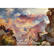 Wall Calendar 2018 [12 pages 20x30cm] Fantastic Landscapes Scenic Views by Thomas Moran Vintage Art Poster