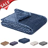 #8: Fuzzy blanket or fluffy blanket for baby girl or boy, soft warm cozy coral fleece toddler, infant or newborn receiving blanket for crib, stroller, travel, outdoor, decorative (28 x 40 in, Smoked blue)