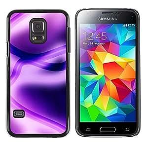 Be Good Phone Accessory // Dura Cáscara cubierta Protectora Caso Carcasa Funda de Protección para Samsung Galaxy S5 Mini, SM-G800, NOT S5 REGULAR! // Abstract Purple