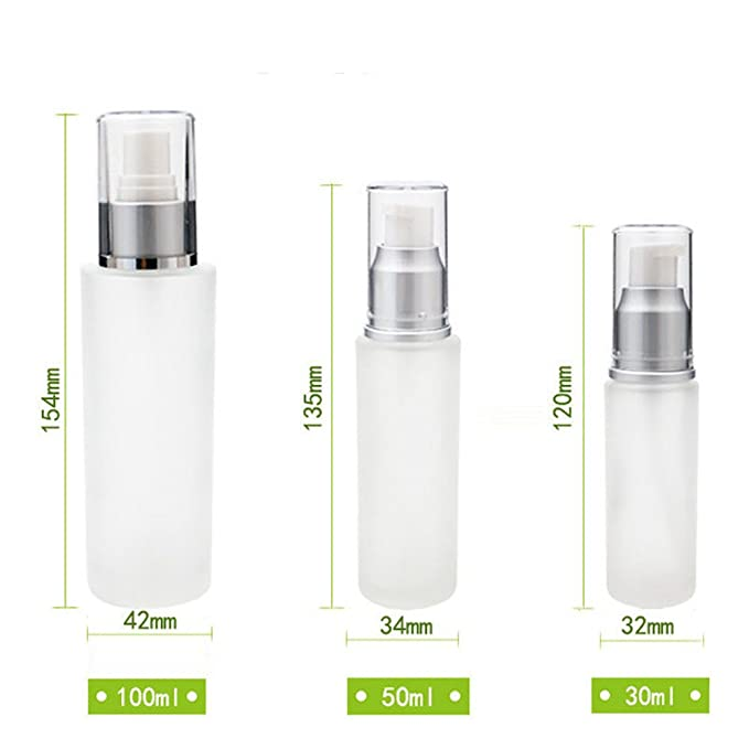 Amazon.com: Outstanding 30ml Pump Frosted Glass Bottle Empty Lotion Cream Dispenser: Home & Kitchen