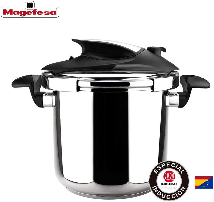 MAGEFESA Nova Olla a presión Super rápida de fácil Uso, Acero Inoxidable 18/10, Apta para Todo Tipo de cocinas, Incluido inducción. (6L): Amazon.es: Hogar