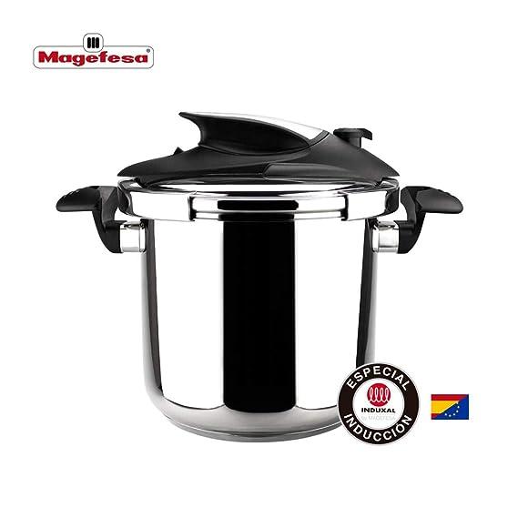 MAGEFESA Nova Pro Olla a presión Super rápida de fácil Uso, Acero Inoxidable 18/10, Apta para Todo Tipo de cocinas, Incluido inducción. Fondo ...