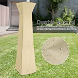 Zerodis Pyramid Torch Patio Heater Cover Waterproof Oxford Cloth Triangle Glass Tube Heater Cover Outdoor Durable Rainproof Anti-dust Protector