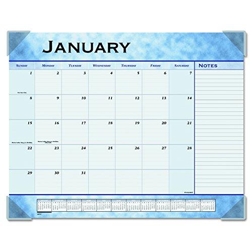 Calendar Desk Pad Slate Blue - AT-A-GLANCE Desk Pad Calendar 2017, Monthly, 12 Months, 21-5/8 x 16-7/8