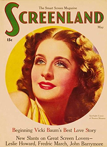 Norma Shearer Poster Movie Magazine Cover 1930's