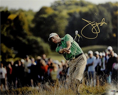 Jim Furyk Hand Signed Autographed 16x20 Photo Big Swing In Rough PSA/DNA