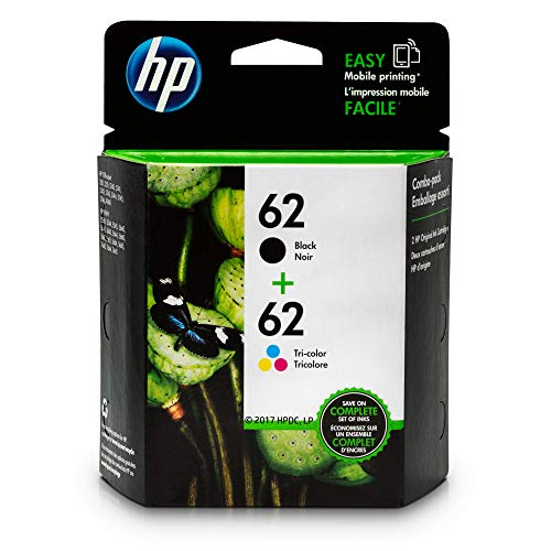 HP 62 Black & Tri-Color Original Ink Cartridges, 2 Cartuchos (n9h63fn)
