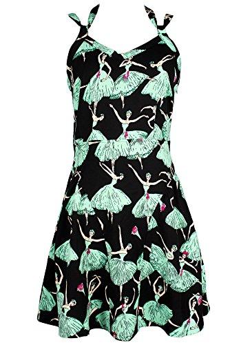 Print Strappy Dress (Sidecca Ballerina Print Strappy Cami A-Line)