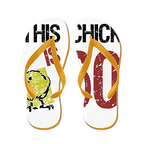 CafePress Womens Funny 60Th Birthday - Flip Flops, Funny Thong Sandals, Beach Sandals Orange