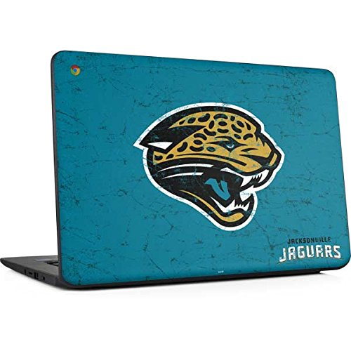 Skinit Jacksonville Jaguars Distressed Chromebook 14 G5 Skin - Officially Licensed NFL Laptop Decal - Ultra Thin, Lightweight Vinyl Decal Protection
