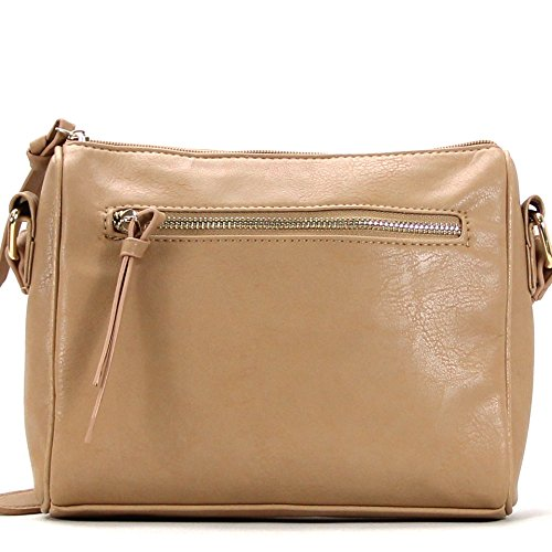 Pop Fashion Crossbody Bags for Women Multi-Pocket Zipper Pouch Shoulder Bag Crossbody Clutch Purse Handbags for Women, Ladies, Girls, Best Gifts, Travel bag, Pocket Book Evening Bag - Khaki from Pop Fashion