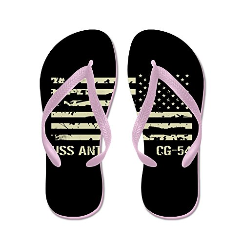 CafePress USS Antietam - Flip Flops, Funny Thong Sandals, Beach Sandals Pink