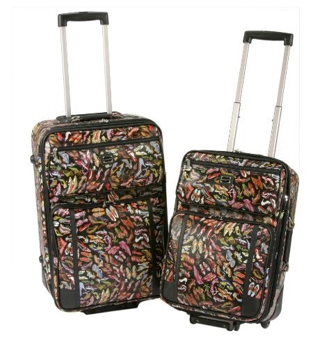 Sydney Love 2 Piece Rolling Luggage Set, Stepping Out Print ,One Size by Sydney Love (Image #4)