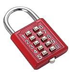 Combinazione-di-pulsanti-Lucchetto-di-sicurezza-Serratura-digitale-Cassetto-porta-del-cassetto-Portautensili-fai-da-te-Cassetta-degli-attrezzi-a-10-bit-Meccanismo-a-5-posizioni-Chiave-cieca-rossa