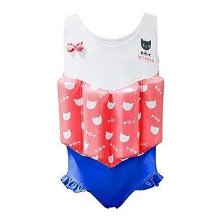 Gogokids Costume da Bagno Intero con Galleggianti per Bambina Tuta Galleggiante per Ragazze Aiuto di Nuoto