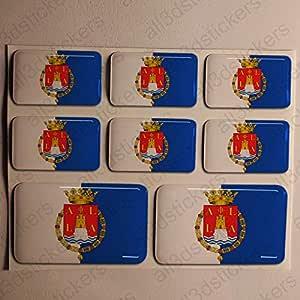 Pegatinas Alicante España Resina, 8 x Pegatinas Relieve 3D Bandera ...