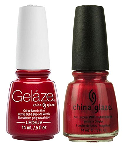 (China Glaze Gelaze Tips and Toes Nail Polish, Red Pearl, 2 Count)