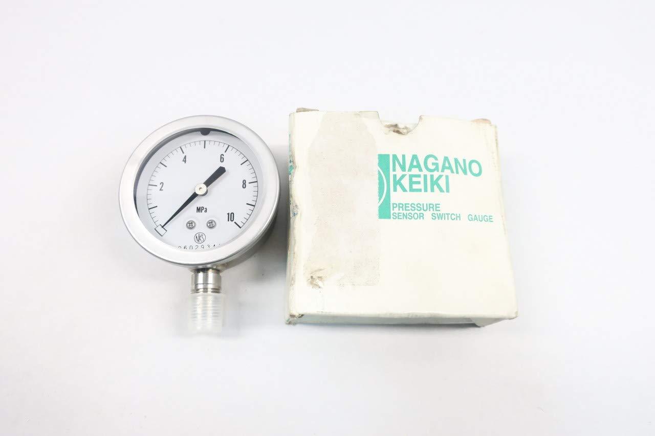 Nagano KEIKI GV50-173 Pressure Gauge 2-1//2IN 0-10MPA 1//4IN NPT