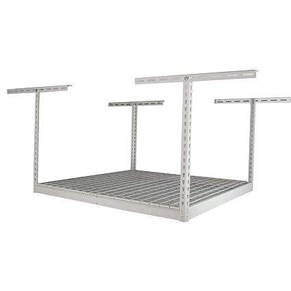 Saferacks 4x4 Overhead Garage Storage Rack 18 33 Ceiling Drop White