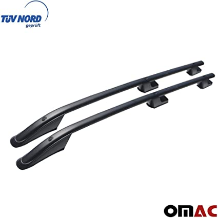 Colore: Nero con Certificazione T/ÜV Abe OMAC GmbH Set Barre Portapacchi per Transit Tourneo Custom dal 2012