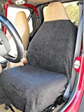 football car seat covers - BLACK Car and Truck Towel Seat Cover Keeps your seats clean, Stay comfy in heat and cold, Easy cleanup,Washable absorbant, Flexable straps for easy On/Off