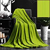 """Nalagoo Unique Custom Flannel Blankets Seamless Green Wood Texture Super Soft Blanketry for Bed Couch, Twin Size 60"""" x 70"""""""