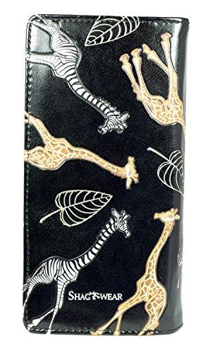 Nero Large Love Giraffe Purse Per Strisce Vintage Pattern Portafoglio Turchese amore Shagwear Striped Donne Giovani w4OOIq