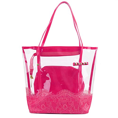 Jelly Purse Handbag (Zicac Woman Jelly Beach Bag PVC Transparent Tote Shoulder Bag Handbag Minimali)