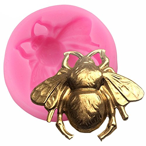 MoldFun 3D Bumble Bee Silicone Mold for Fondant Chocolate Candy Gum Paste Polymer Clay Resin Kitchen Baking Sugar Craft Cake Decorating Tools