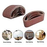 Patioer 3x18 Inches Aluminum Oxide Sanding Belt, 21