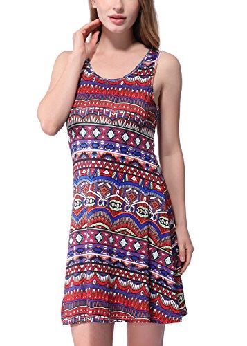 RUIYIGE - Vestido - para mujer Multicolor