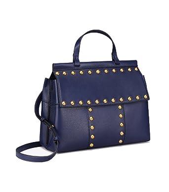 c7e362babee Amazon.com  Tory Burch T Stud Satchel Ladies Medium Leather Handbag  44329403  Watches