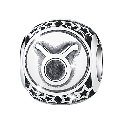 Bamoer Sign of Zodiac Taurus 925 Sterling Silver Charms Bead For Bracelet